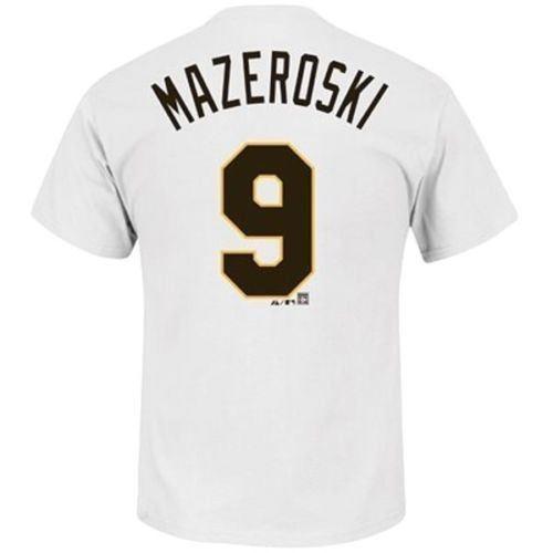 Bill Mazeroski Majestic White Name & Number T-Shirt New Top Tees Style Fashion Men T Shirts 100% Cotton Classic