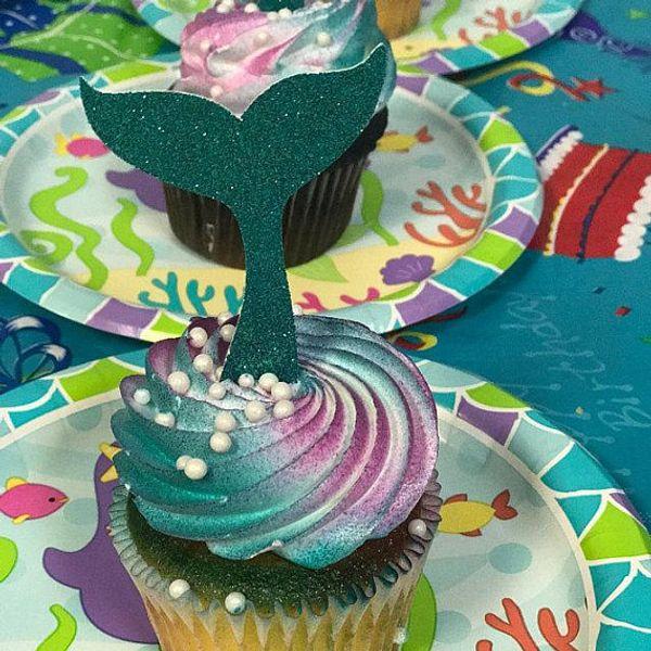 glitter wedding Mermaid Tail birthday cupcake toppers valentine's day Anniversary engagement party decoration doughnut picks