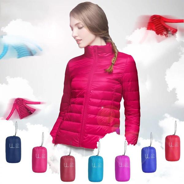top popular Winter Women Ultra Light Down Jacket 90% Duck Down Hooded Jackets Long Sleeve Warm Slim Coat Parka Female Solid Portabl Outwear 2019