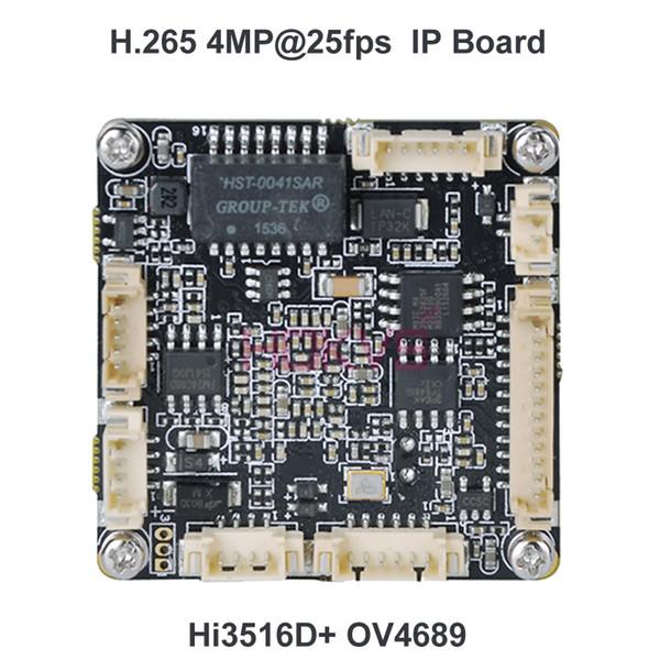 HOKVS H.265 3MP 4MP (2592 * 1520) IP Modülü PCB Devre Modülü Onvif ile Video CCTV Güvenlik Kamera için Hi3516D OV4689