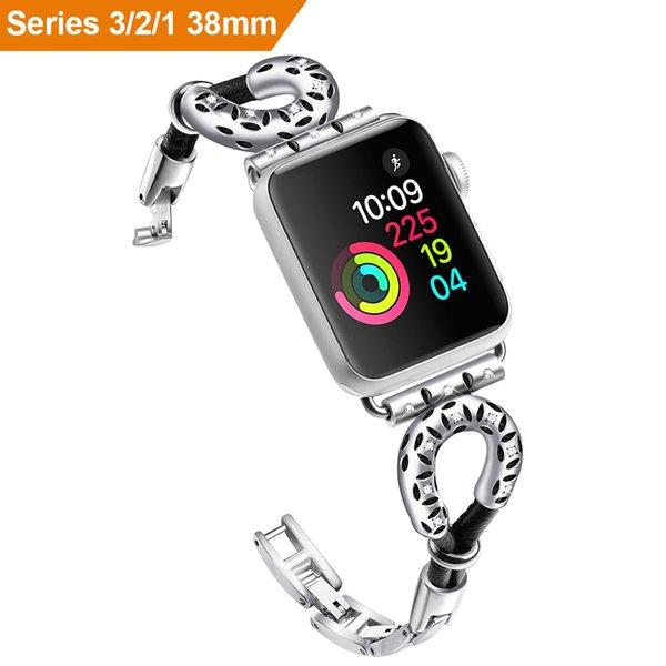 38mm/42mm Sheepskin Rope Jewelry Chain U-type Watch band Strap For Apple Watch