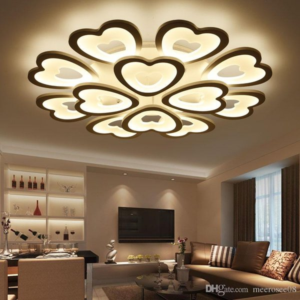 Modern LED Ceiling Lights for Living room Bedroom Ceiling Lamp Acrylic Heart Shape LED ceiling Lighting Home Decor