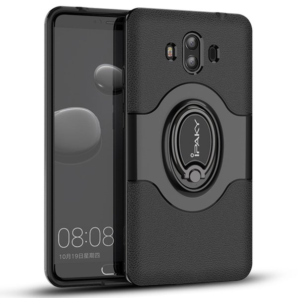 iPaky Magnetic Case For Huawei Mate 10 Pro Mate10 Ring Stand Holder Back Cover PC+TPU Drop-proof Cases With Package In Stock