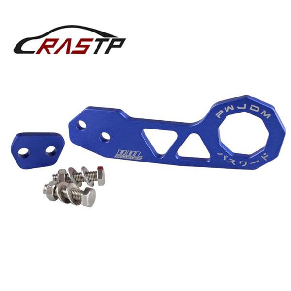 RASTP-Universal Estilo JDM Car Racing Reboque Traseiro Gancho Da Liga de Alumínio Traseiro Gancho Para Honda Civic Azul RS-TH004