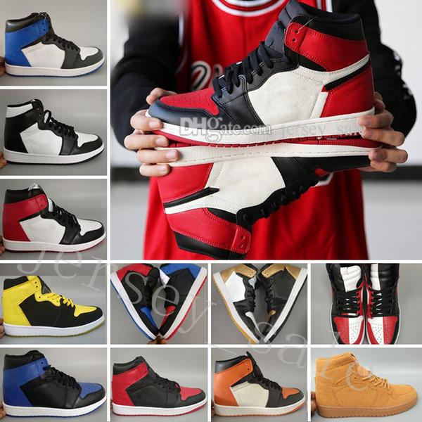 Haut OG 1 Top 3 Chaussures de basket-ball Mens Bred Toe Chicago Banned Royal Blue Fragment UNC HOMMAGE À LA MAISON Nouvelle ville d'amour de Flight Sneakers Sports