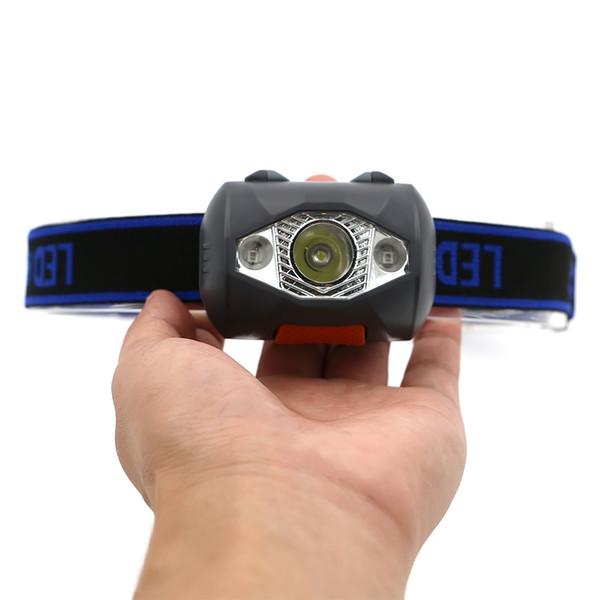 3 Led 800 Lumen 4 Modi Mini Scheinwerfer Außenscheinwerfer Wasserdicht Flash Stirnlampe Taschenlampe Laterne Für Die Jagd, Verwenden Batterie
