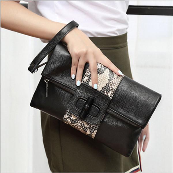 2018 new LAZZOVS fashion shoulder totes bags Snake print High-capacity Clutch bag luxury designer handbags women messenger bags