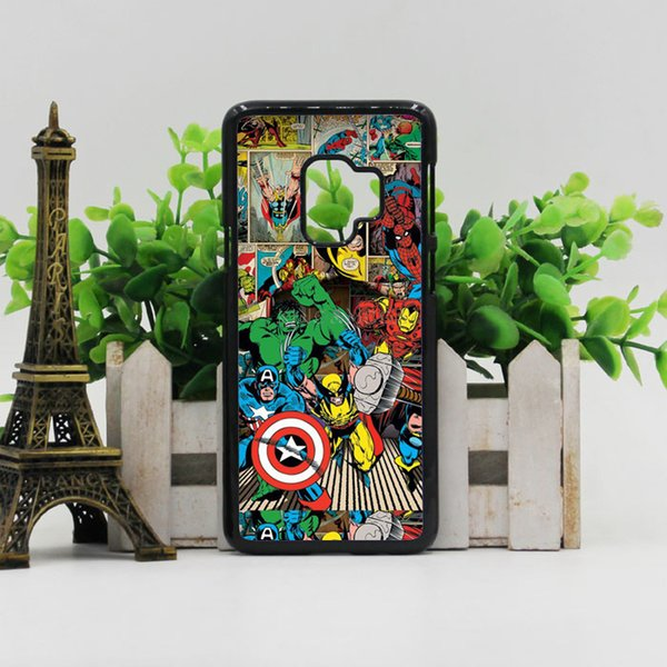 Free Shipping Phone Case Marvel Comics Avengers cover for iPhone X XS XR MAX 6 6s 7 8 Plus samsung galaxy s6 S7 edge S8 S9 S10 PLUS note 8 9