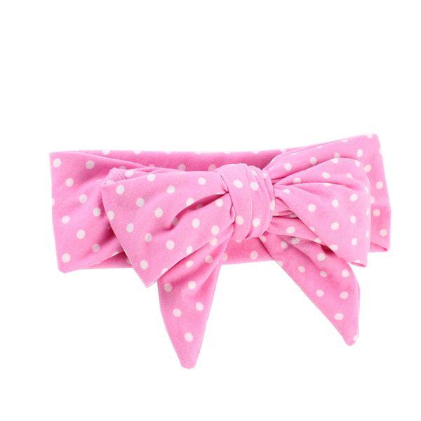 Soft Baby Wide Headbands Dots Turban Hairbands Pink Headwraps DIY Bow Knot Kids Girls Warm Headwear Children Hair Accessories