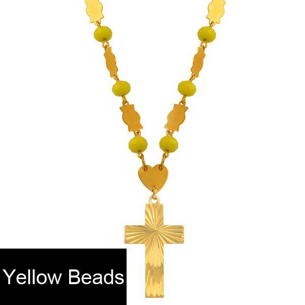 Желтые бусины 63см Цепь