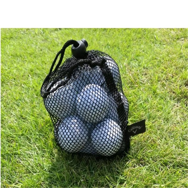17.5 * 22.5cm Nero Nylon Mesh Nets Pallina da golf Pouch Bag Golf Tennis da tavolo 25 Palline da trasporto Holder Storage Bag String Chiusura 2018103006