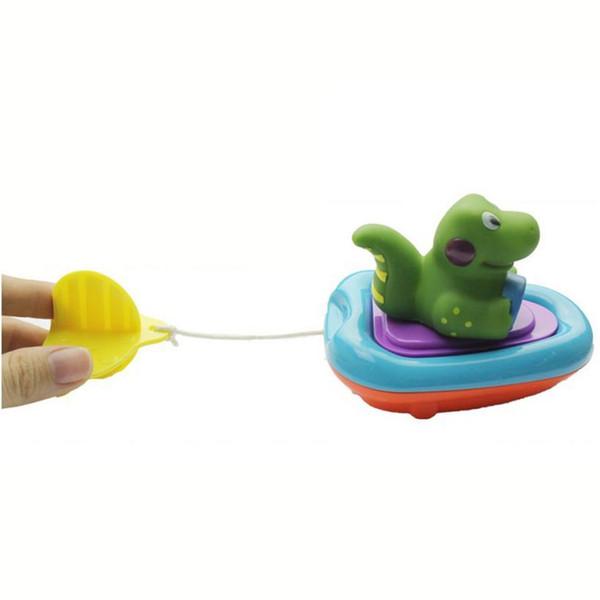 Baby Gift Bathing Boat Animal Toys Infant Kids Children Swimming Pool Pull Toy L224