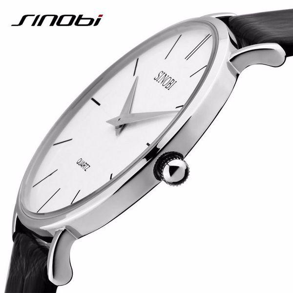 Super Slim Quartz Casual Sport Orologio da polso Affari Giappone SINOBI Brand Analogico Analogico al quarzo in pelle 2016 nuovo relojes hombre