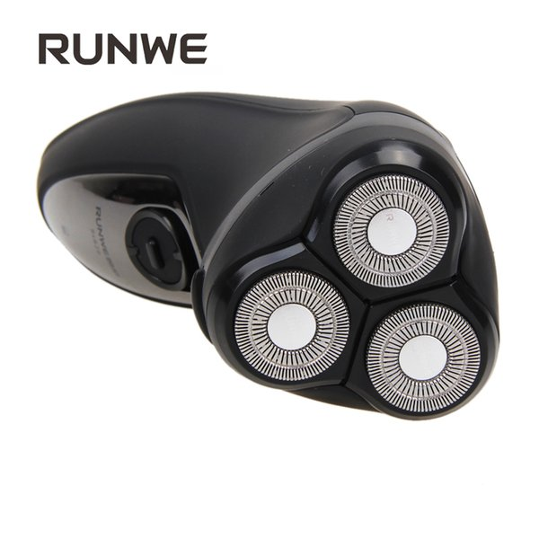 RUNWE Rs926 Electric Shaver Razor 3D Floating Rotary Triple Blade Face Care Wet & Dry Use Male Shaving Machine