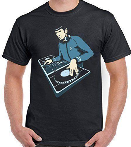 DJ Spock - Mens Funny T-Shirt Star Trek Deejay Decks Vinyl Dance Music House