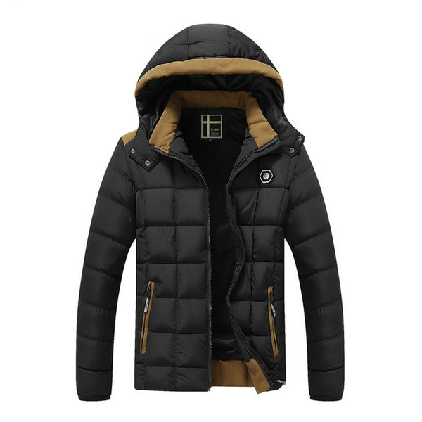 2018 Winter New Mens parkas Jackets Coats Thicken Warm jacket Hooded trench Cotton-Padded Male Fashion Clothing Hommer Parkas