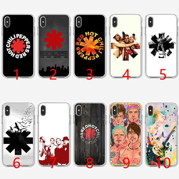 Rock band Red Hot Chili Peppers Soft Silicone TPU Phone Case for iPhone 5 5S SE 6 6S 7 8 Plus X XR XS Max Cover
