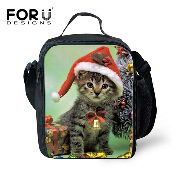 Isolieren Kleine Für Mädchen Kitty Großhandel Picknick Taschen Druck Thermische Kühltasche Kinder Weihnachtsgeschenk Snack Mittagessen Im Freien Cat mn0vyPN8wO