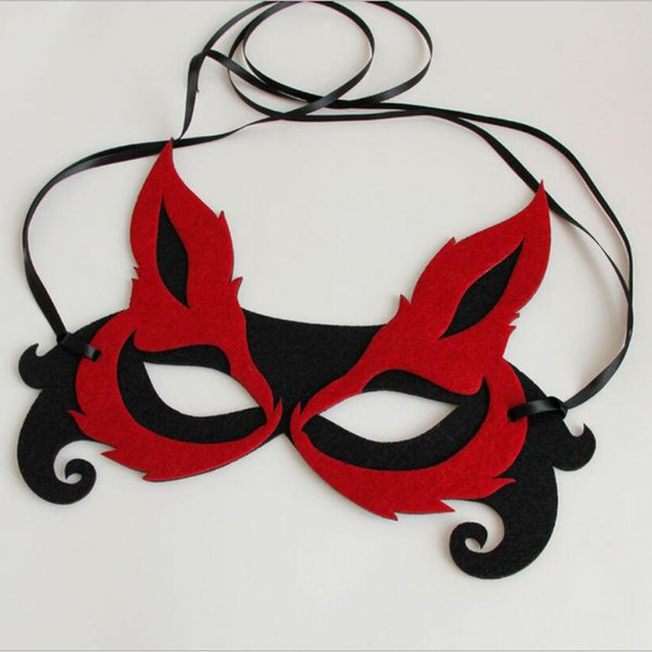High Quality Halloween Masquerade Beautiful Sexy Promotion Selling Party Mask Fox Shape Half Face Masquerade Mask Party Mardi Gras Mask