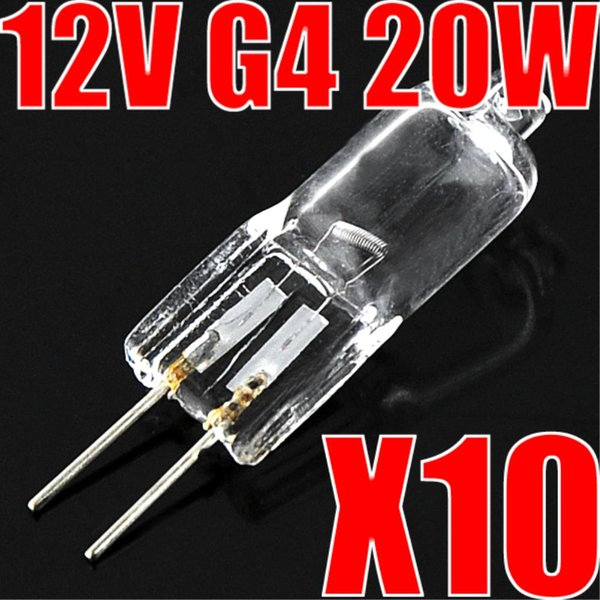 20 Watt Halogen 12V G4 Base Light Bulb 20W Bi-Pin 10 Pcs