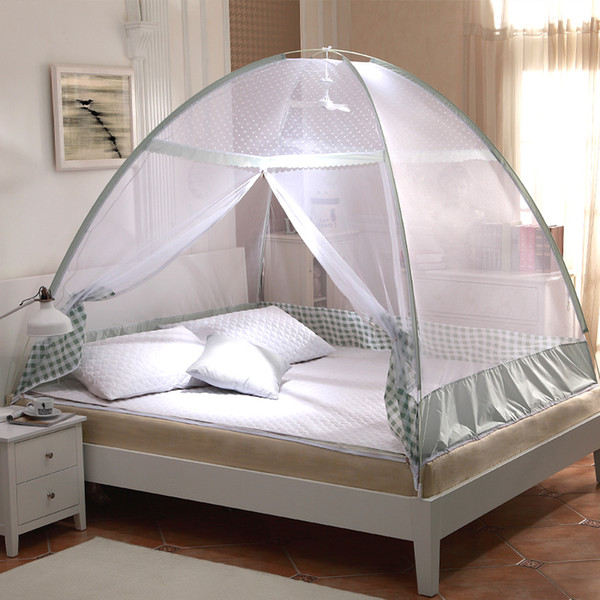 Green Purple Plaid Mosquito Net Tents,Portable Mosquito Nets,Bed Canopies Adults,Moustiquaire Pour Lit Double,Mosquito Netting For 1.2/1.5M