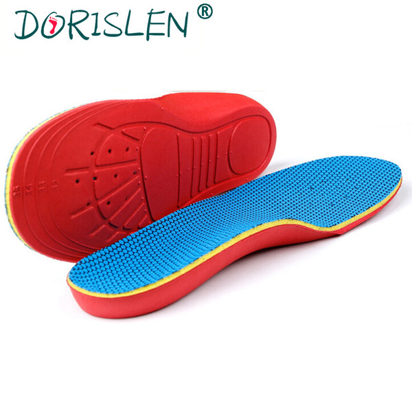 Wholesale EVA Kids Orthopedic Insoles For Flat Foot Arch Support Children Shoe Pad Foot Care Free Shipping