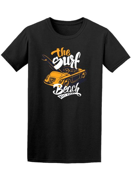 T-shirt dos homens do carro da costa ocidental da praia da ressaca - imagem por Shutterstock Harajuku T-shirt engraçados dos homens