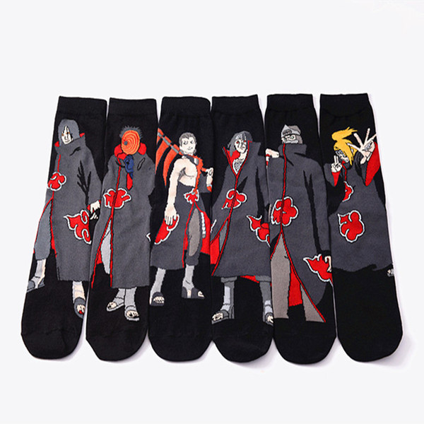 top popular Anime Naruto Series Cosplay Socks Naruto Cotton Cartoon Socks Personality Tide Socks Men Calcetines Casual Funny Sock Meias Sox 2021