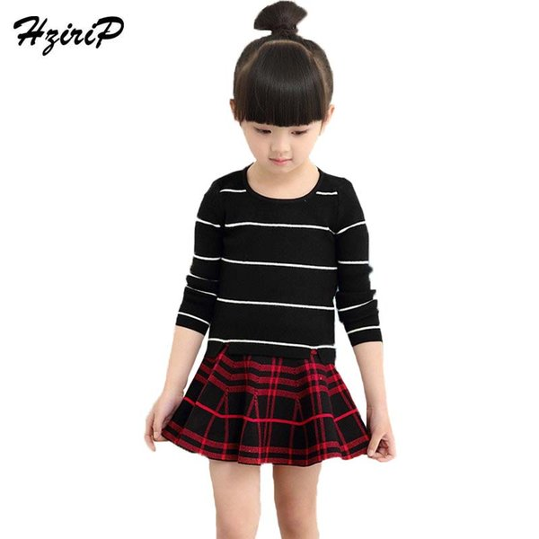 HziriP 2018 New Spring Summer Girls Skirts Fashion Lattice Princess Party Umbrella Skirt Children Girl Clothing Free Shipping