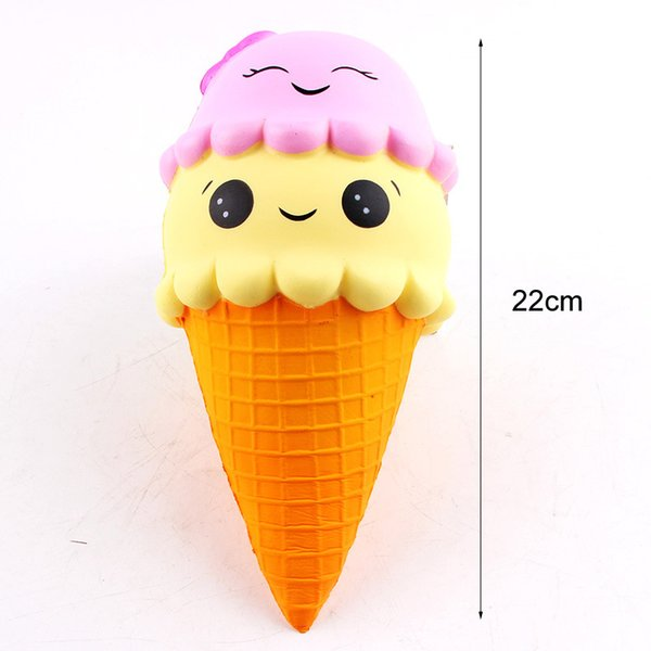 top popular 22cm Jumbo Kawaii Double Face Icecream Squishy Perfume Simulation Home Decor Decompression Squeeze Vent Kids Toys 2020