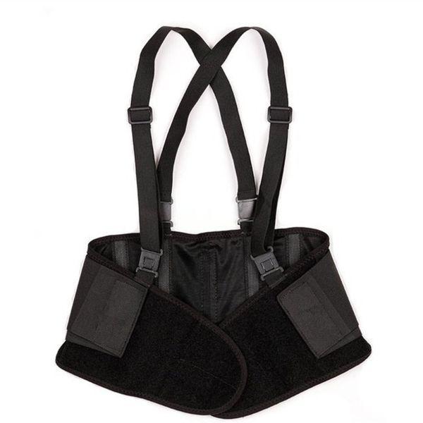 Back Brace with Suspenders Adjustable Removable Shoulder Straps Lumbar Support Belt Lower Back Pain for Sports