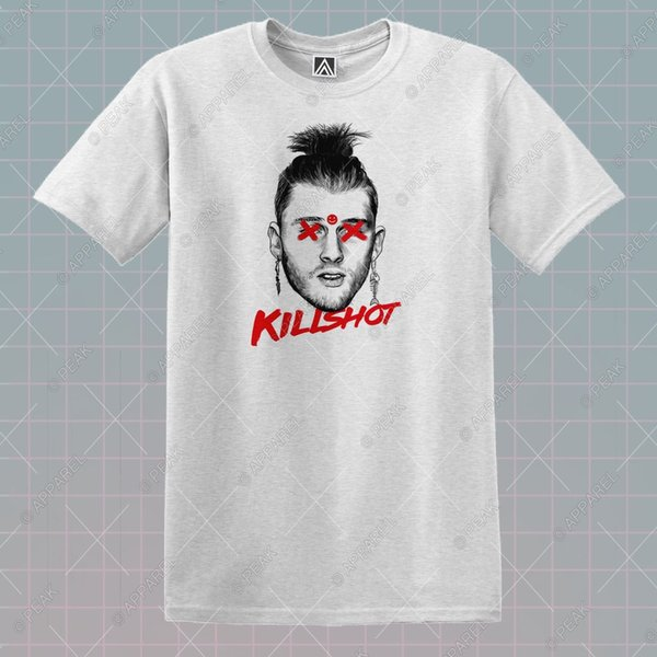 Machine Killshot T Shirt Emi Gun MGK Tee Kamikaze Dre Rap Music Kill Shot Top Funny free shipping Unisex Casual