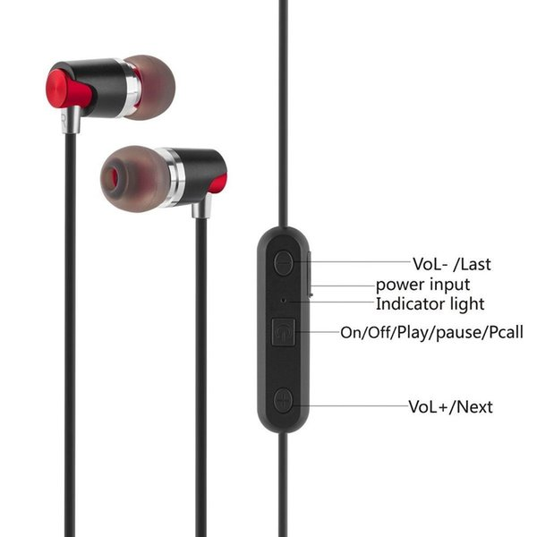High quality M7 sports Bluetooth headset wireless earphone stereo with microphones and In-Ear headphones to run magnets