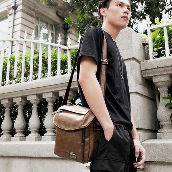 Homem Saco de ombro único Saco de armazenamento de corpo cruzado novo estilo - Khaki City Jogging Bags