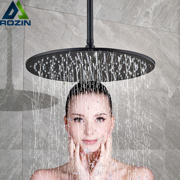 Ceiling Mounted Bathroom Shower Head 12/16 inch Big Rainfall Shower Faucet Accessory Top Round Brass Showerhead
