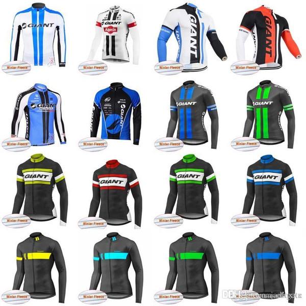 GIANT team Cycling Winter Thermal Fleece jersey Top Sale Cheap men MTB Wear bike High Quality clothes 83029J