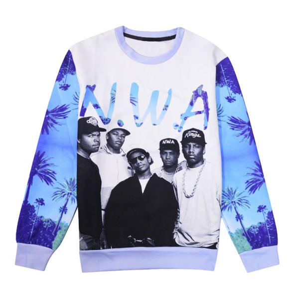 New Fashion Classic Band NWA Compton Drôle 3d Imprimer Sweats Vêtements de mode Femmes Hommes Sweatshirt Casual Pulls K72