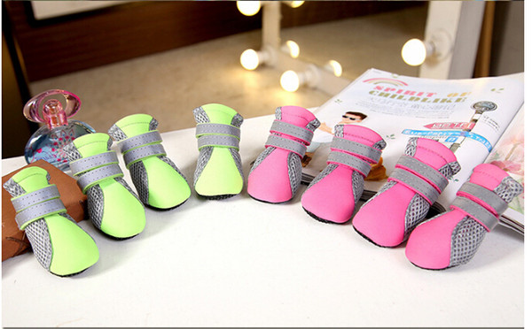 best selling Spring And Summer New Pet Shoes Teddy Puppy Shoes Dog Soft Bottom Walking Running Dogs Shoes