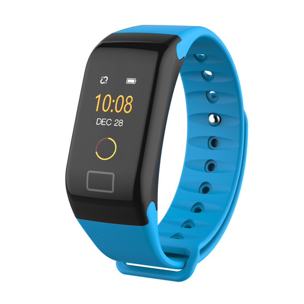 F1 Plus Color Screen Smart Bracelet Smart Blood Pressure Heart Rate Sleep Tracker Sport Pedometer Wristbands New Watch