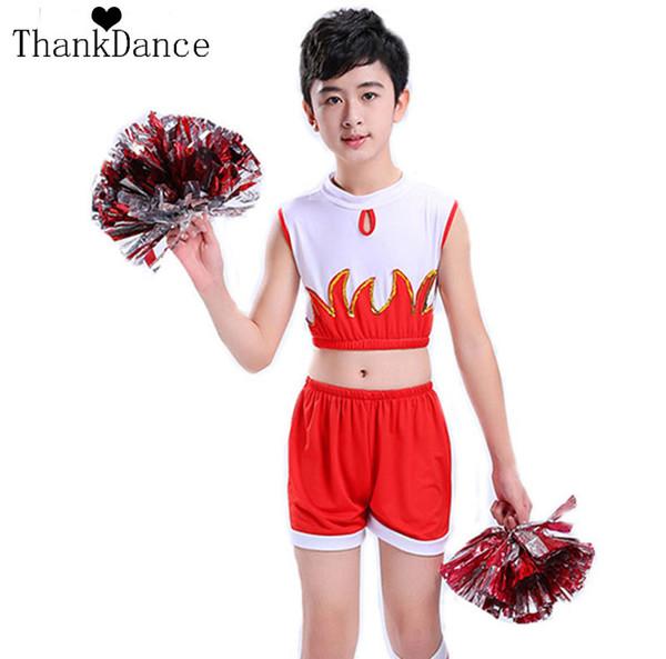 Boy Cheerleader Uniforms For Boys Cheer Team Suits Cheerleading Uniforms Children Boy Calisthenics Suit Student Competition Suit