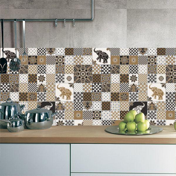Simple Decorative Kitchen Tiles Design