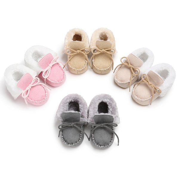 New Winter Baby Shoes Boots Infants Warm Shoes Fur Wool Girls Baby Booties Sheepskin Genuine Leather Boy Boots
