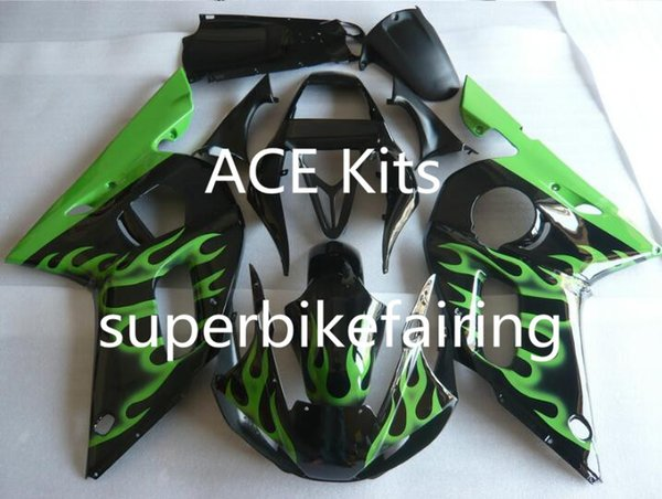 3 gift New Hot ABS motorcycle Fairing kits 100% Fit For 1998 2002 YAMAHA YZF R6 YZF-R6 1998 2002 YZFR6 YZFR6 98 02 Black Green P13I