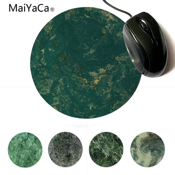 Yinuoda New Designs Green Marble DIY Design Pattern Game Lockedge mousepad 200x200mm 220x220mm Round Mouse Pad