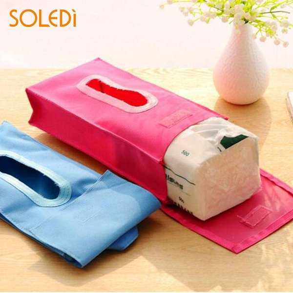 Durable Tissue Case Tissue Pumping Box Creative Hanging Oxford Cloth Home Cover Bag Holder Decoration
