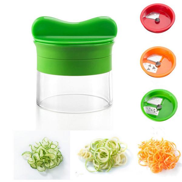 Moms Hand 5 In 1 Kitchen Vegetable Spiral Cutter With 3 Alternative Blade Spiralizer Kitchen Fruit Vegetable Tool