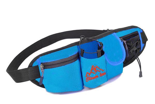 Cintura da corsa impermeabile Fanny Pack Flip Riding con cerniera per uomo e donna Cinture per corridori sportivi da interno ed esterno A076