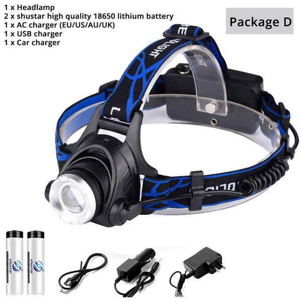 Headlamp+Battery+Plug+USB