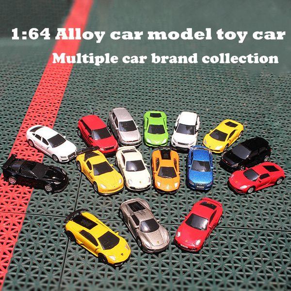 1:64 Alloy car model Benz BM Audi Chevrolet Toyota n Decoration Metal car kids toys Pocket Gifts that children like RMZ