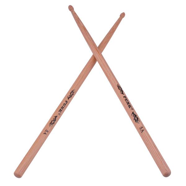 top popular Hickory Wood Drumsticks 5A Drum Stick Wood Tip Drumstick For Drummer 2021